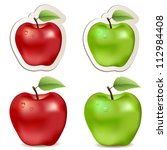 big  shiny red and green ... | Shutterstock .eps vector #112984408