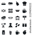 set of vector isolated black... | Shutterstock .eps vector #1129850222