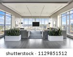 spacious resident lounge in... | Shutterstock . vector #1129851512