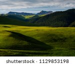 mountain landscape with scenic...   Shutterstock . vector #1129853198