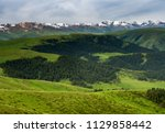 pass in the almaty mountains ... | Shutterstock . vector #1129858442
