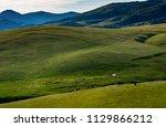 kazakh yurt in assy plateau in... | Shutterstock . vector #1129866212