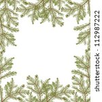 Illustration With Fir Branches...
