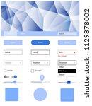 light blue vector ui ux kit in...