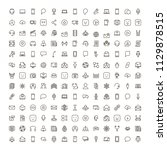 message icon set. collection of ... | Shutterstock .eps vector #1129878515