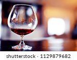red wine glass serving  ... | Shutterstock . vector #1129879682