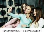 lifestyle  friendship  people ... | Shutterstock . vector #1129880315