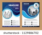 brochure design  cover modern... | Shutterstock .eps vector #1129886702