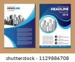brochure design  cover modern... | Shutterstock .eps vector #1129886708