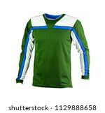 white and green sweat shirt  | Shutterstock . vector #1129888658