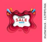 banner template for sale ... | Shutterstock .eps vector #1129891466