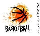 vector grunge basketball   t... | Shutterstock .eps vector #1129892348