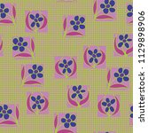 a seamless pattern consisting... | Shutterstock .eps vector #1129898906
