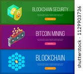 blockchain and cryptocurrency... | Shutterstock .eps vector #1129903736