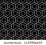the geometric pattern with... | Shutterstock .eps vector #1129906655