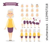 beautiful elderly woman... | Shutterstock .eps vector #1129907318