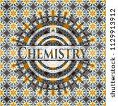 chemistry arabic style emblem.... | Shutterstock .eps vector #1129913912