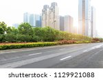 the road under the background... | Shutterstock . vector #1129921088