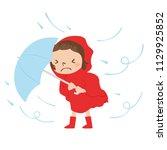 dangerous condition with rain... | Shutterstock .eps vector #1129925852