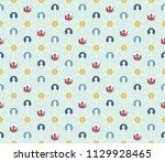 business seamless pattern. flat ... | Shutterstock .eps vector #1129928465
