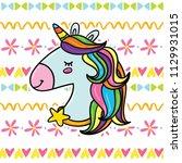 cute cartoon children vector... | Shutterstock .eps vector #1129931015
