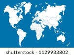 color world map vector | Shutterstock .eps vector #1129933802
