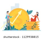 vector flat style illustration... | Shutterstock .eps vector #1129938815