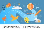 creative thinking concept. the... | Shutterstock .eps vector #1129940102