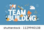 team building concept. group of ... | Shutterstock .eps vector #1129940138