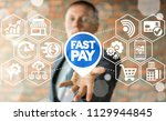 fast pay concept. online... | Shutterstock . vector #1129944845