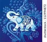 vector illustration of elephant | Shutterstock .eps vector #112994872