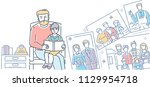 sweet memory   colorful line... | Shutterstock .eps vector #1129954718