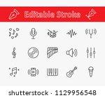 set of music related vector... | Shutterstock .eps vector #1129956548