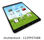 modern digital tactile tablet... | Shutterstock . vector #1129957688