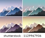 mountain landscape vector... | Shutterstock .eps vector #1129967936