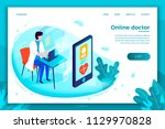 vector bright online health... | Shutterstock .eps vector #1129970828