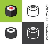 tuna sushi icons  | Shutterstock .eps vector #1129971698