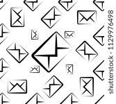 envelope icon seamless pattern  ... | Shutterstock .eps vector #1129976498
