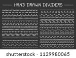 33 hand drawn dividers ... | Shutterstock .eps vector #1129980065