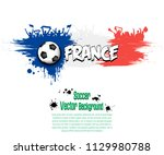 grunge soccer background. flag... | Shutterstock .eps vector #1129980788