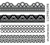 cloth lace collection can use... | Shutterstock .eps vector #1129981598