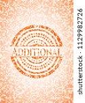 additional orange mosaic emblem ... | Shutterstock .eps vector #1129982726