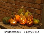 Carved Eggplant Jack O\'lantern...