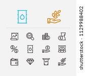 economy icons set. petroleum...