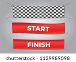 start and finish textile... | Shutterstock .eps vector #1129989098