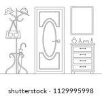 interior design of the hallway... | Shutterstock .eps vector #1129995998