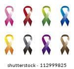 colorful awareness ribbons... | Shutterstock .eps vector #112999825
