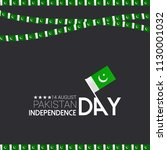 14th of august. pakistan... | Shutterstock .eps vector #1130001032