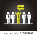 businessman over black... | Shutterstock .eps vector #113000242