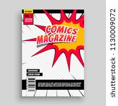comic magazine book cover... | Shutterstock .eps vector #1130009072